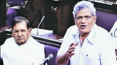 CPM's Sitaram Yechury speaks in Rajya Sabha on Wednesday.  Source:PTI