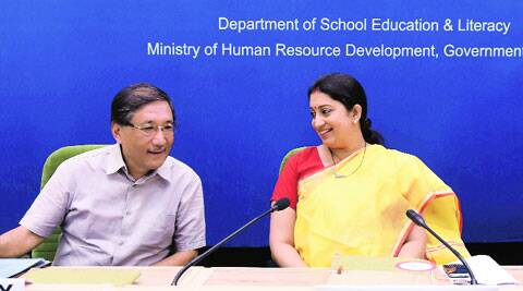 Union HRD Minister Smriti Irani at the inauguration of the Conference of State Education Secretaries in New Delhi on Tuesday. (Source: PTI)