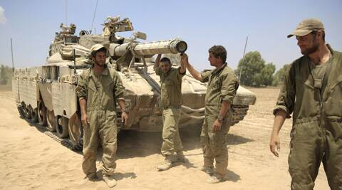 Israel said it withdrew the last of its ground forces from Gaza on Tuesday as it and Hamas began a temporary cease-fire. (Source: AP)