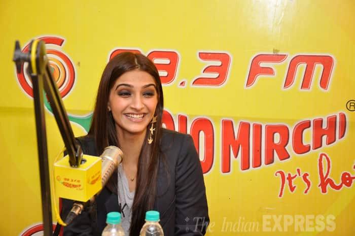 Sonam Kapoor seemed to be having a blast as she played radio jockey. (Source: Varinder Chawla)