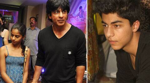 SRK took time out for family from his busy schedule.