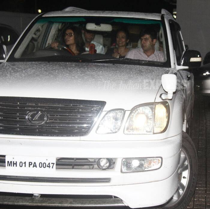 Sushmita took the wheel as she drove with her friends. (Source: Varinder Chawla)