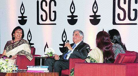 Chairman Emeritus of Tata Sons, Ratan Tata, during an interaction with members of the Ladies Study Group of the Indian Chamber of Commerce in Kolkata. (Source: Express Photo by Partha Paul)