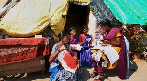 Household survey is under way in a locality in Hyderabad, Telangana on Tuesday. (Source: PTI)