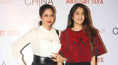 Sridevi's fashionable evening out with stylista daughter Jhanvi