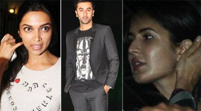 Ranbir, Katrina, ex-girlfriend Deepika Padukone are out and about