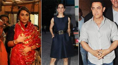 Rani Mukerji in Kolkata, stylista Kangana Ranaut and 'PK' Aamir in Mumbai