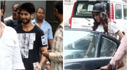 PHOTOS: Shahid, Shraddha brave the rains for 'Haider'