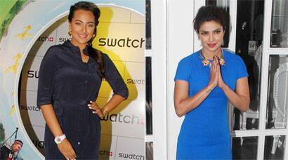 PHOTOS: Shades of Blue: Priyanka Chopra, Sonakshi Sinha