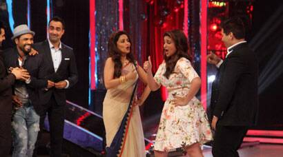 PHOTOS: Parineeti Chopra shakes a leg with Madhuri Dixit