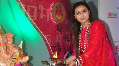 PHOTOS: Rani Mukerji celebrates Ganpati