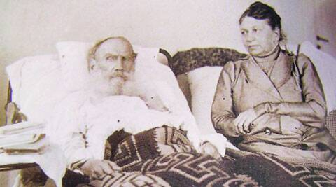 Tolstoy with his wife Sophia in Crimea in 1902.