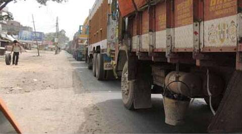 Private truck drivers in Lunglei have refused to ply the route in protest against the Tlabung Supplies storekeeper's recent move to make truck drivers pay in kind (in this case rice) for any missing sacks of rice.