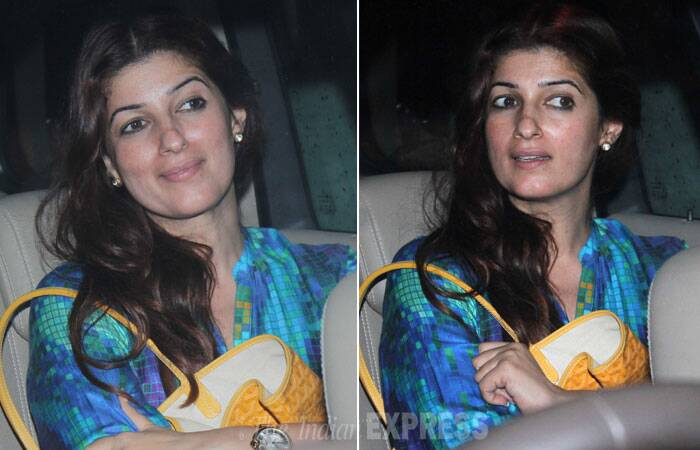 Akshay Kumar's 'superwife' Twinkle Khanna in the car. (Source: Varinder Chawla)
