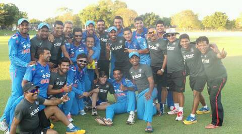 The jubilant India 'A' team. (Source: Twitter)
