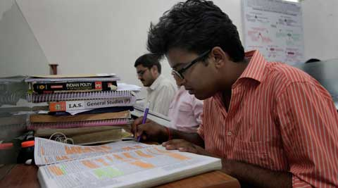 Old Rajender Nagar is the Capital's study centre, that other big draw for civil service aspirants besides Mukherjee Nagar in Delhi. (Source: Express Photo by Ravi Kanojia)
