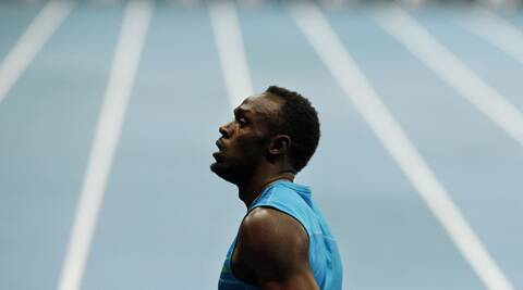 Usain Bolt beat the previous unofficial indoor best mark of 10.05 (Source: AP)