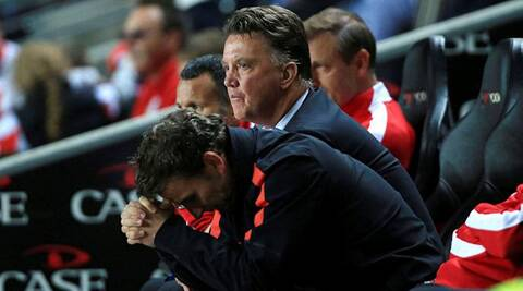 Manchester United coach Louis Van Gaal in (Source: AP)