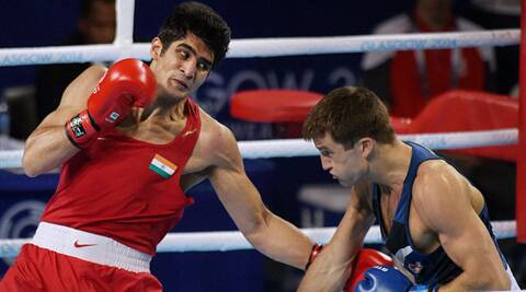 Vijender Singh is carrying a ligament injury in his left hand (Source: PTI)