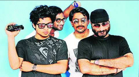 Bhavjoth Anand (right) with members of Awkwardness Unlimited.