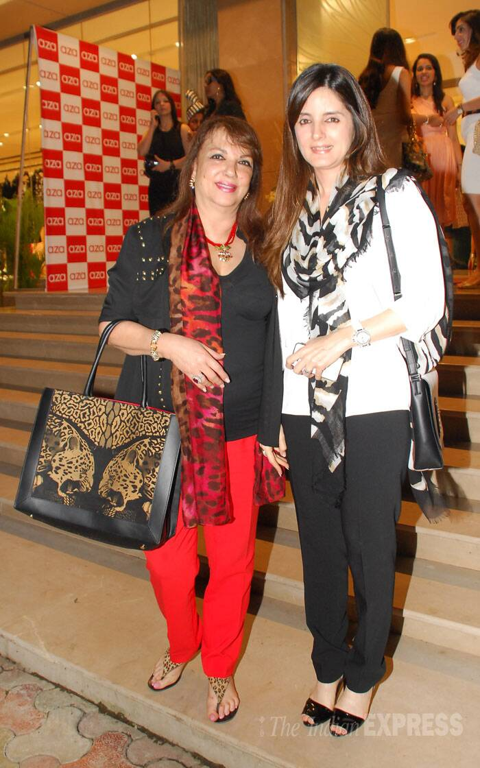 Sussanne K Roshan's mom Zarine Khan was also seen at the store launch. (Source: Varinder Chawla)