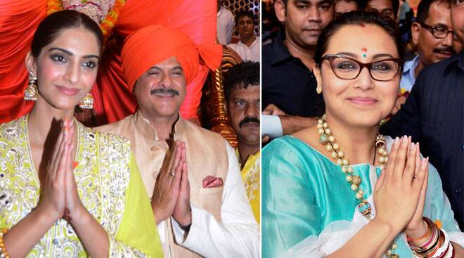 Sonam, Rani, Anil offer prayers at Lalbagcha Raja Ganpati