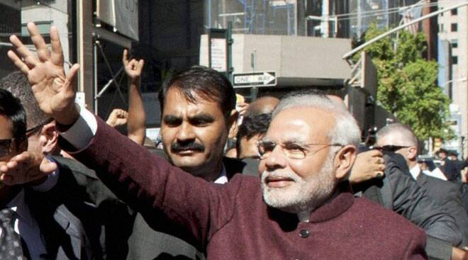Narendra Modi arrives in New York for a five-day visit