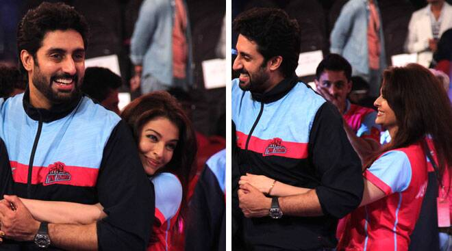 Abhishek, Aishwarya's PDA at Pro-Kabaddi League Finale