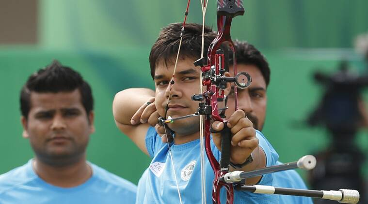 Abhisek Varma was in action earlier in the team compound event too. (Source: AP File)