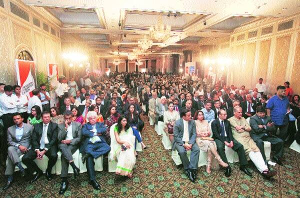 All seats taken at the Express Adda at Taj Mahal Palace, Mumbai.