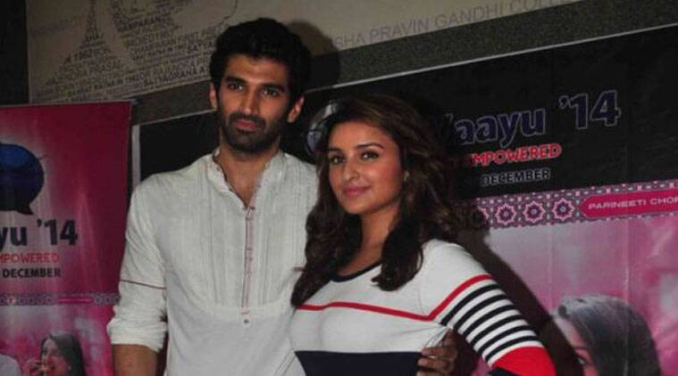 Aditya Roy Kapur and Parineeti Chopra, promoting their new film, 'Daawat-e-Ishq' made a special appearance at the concert that featured performances by singer Shaan and other artists.