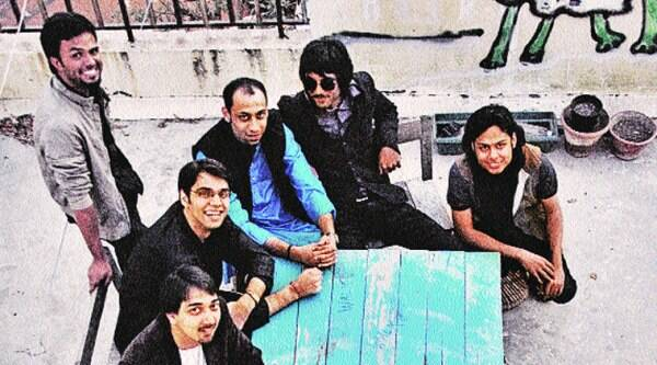 Members of Advaita take a breather from jamming.