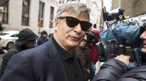 In a video, Alec Baldwin can be seen talking to a police officer with raised voice. (Source: Reuters Photo)