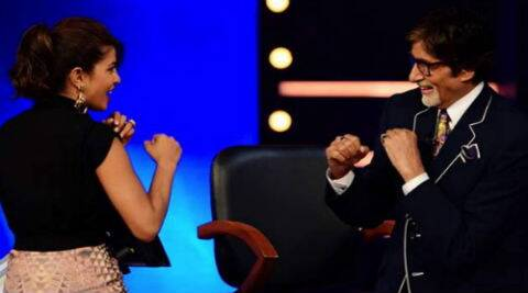 Priyanka shot an episode with megastar Amitabh Bachchan, who hosts KBC in its eighth season.