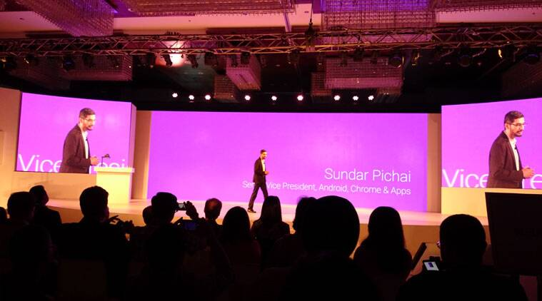 Sundar Pichai sees a big opportunity for Android One phones in India. (Source: Nandagopal Rajan)