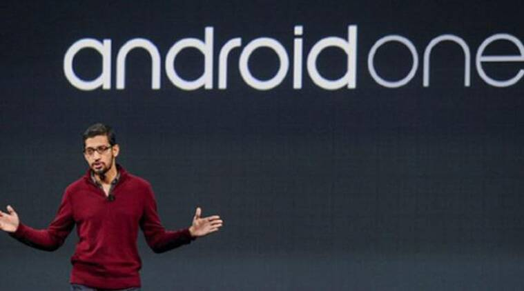Google's Sundar Pichai explains the concept of Android One