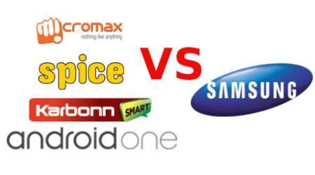 Android One powered Micromax, Karbonn and Spice smartphones worries Samsung