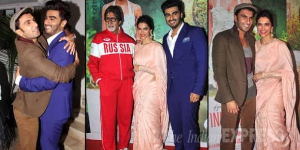 Deepika Padukone's beau Ranveer Singh and Amitabh Bachchan watch 'Finding Fanny'