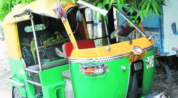 A 10-year-old boy was crushed under an auto on Tuesday after the overloaded vehicle overturned. (Source: Express)