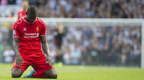 Mario Balotelli wasted several chances on his Liverpool debut (Source: AP)