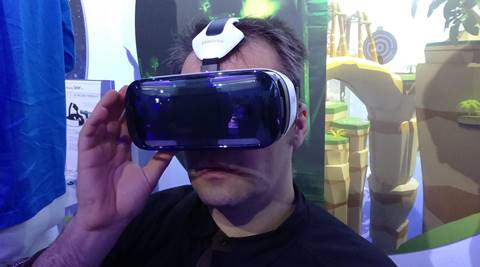 The Gear VR has a Galaxy Note 4 inside. (Source: Nandagopal Rajan)