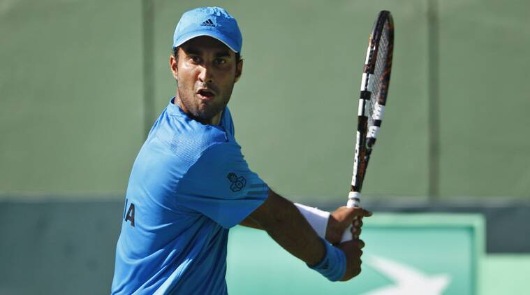 Bhambri's inexperience was exposed and didn't have a chance against the Serb. (Source: PTI)