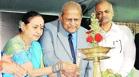 S S Badrinath was in Nagpur on Saturday to inaugurate an eye hospital. ( Source: Express photo )