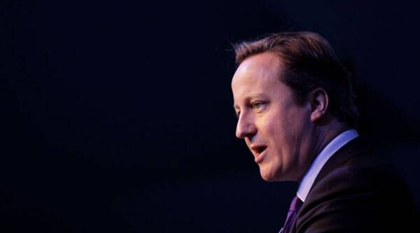 File-This Oct. 11, 2013, file photo shows British Prime Minister David Cameron speaking during an investment conference in Belfast, Northern Ireland. (Source: AP)