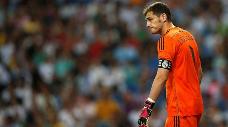 A dejected Iker Casillas after conceding the second goal against Atletico Madrid on Saturday. (Source: Reuters)