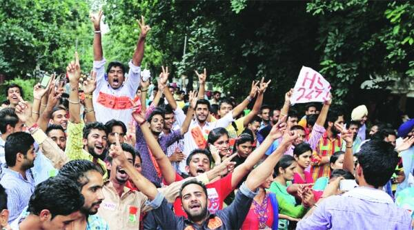 Just a day ahead of the Panjab University student polls, a flurry of action was witnessed on the campus. KAMLESHWAR SINGH