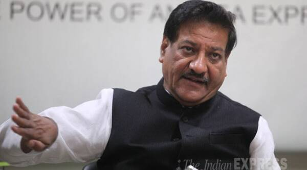 Chavan, said that the atmosphere of cynicism prevailing at the time of his anointment as chief minister has now improved. Source: Express photo