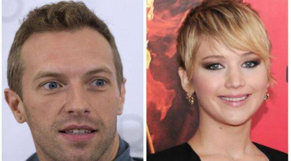 Chris Martin and Jennifer Lawrence dined at posh eatery La Dolce Vita. (Source: Reuters/AP)