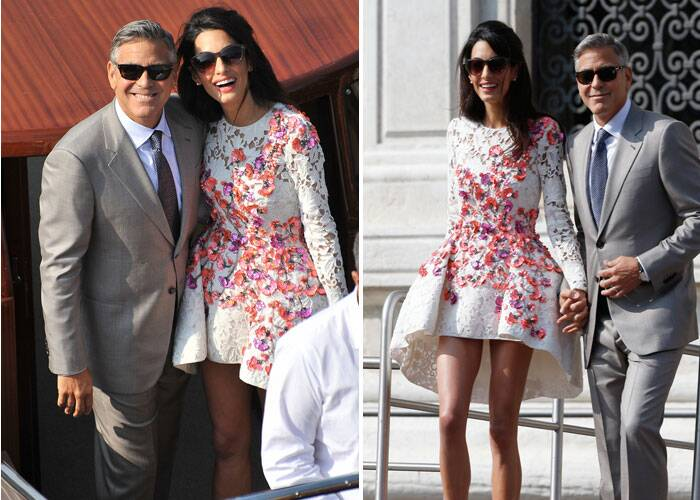 George Clooney with hot, beautiful, Wife Amal Alamuddin