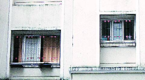 The residence of the deceased sub-inspector in Sion.